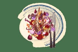 La grosse salade rose d'automne