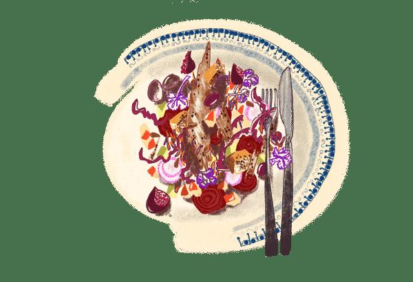 La grosse salade rose d'automne 1