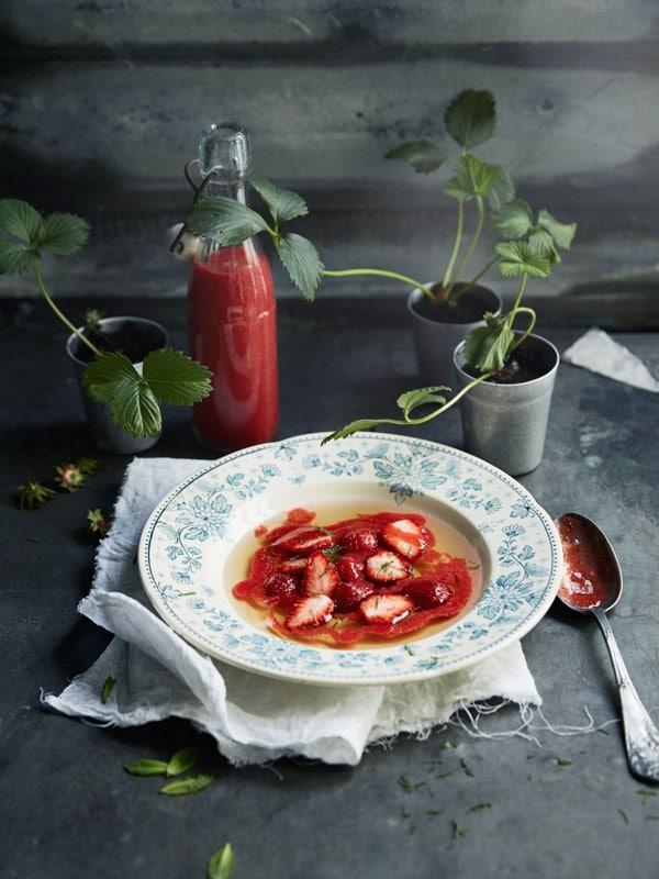 Soupe de fraises qui n'est pas une soupe