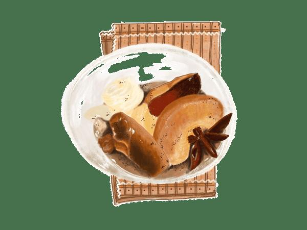 Cocotte aux fruits d'automne