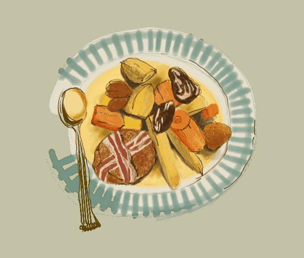 Filet mignon aux châtaignes et fruits secs 1