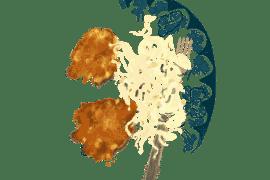 Galettes de pois chiches et salade de chou blanc 3