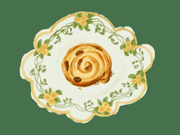 Roulottis feuilletés aux fruits séchés 1
