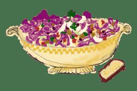 Salade de chou pointu violet 4