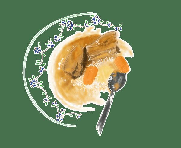 Sauté de veau au citron confit