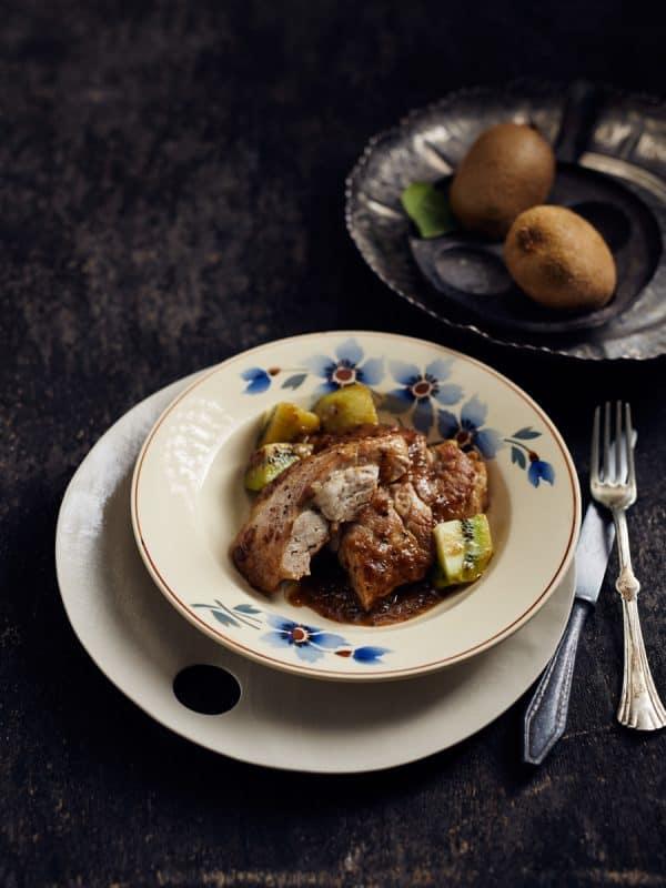 Ris de veau aux kiwis et chartreuse