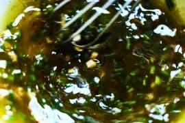 Salade tiède de morilles, mesclun et gelée parfumée 3