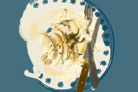 Céleri-rave aux noisettes et salade de chou chinois 3