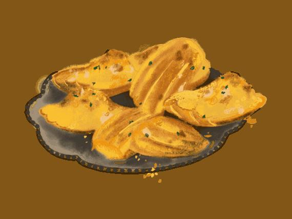Bouchées au thon comme des madeleines