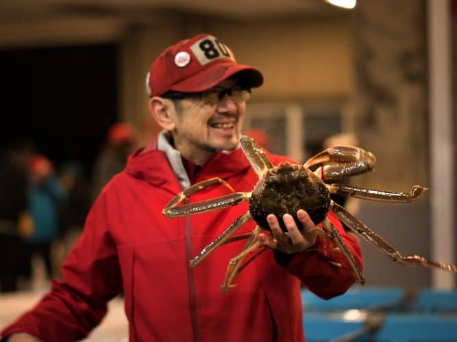 Toshiyuki Kawaguchi, le roi du crabe à Sakaiminato - © 180°C Photographie Camille Oger