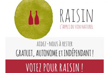 Soutenez Raisin,<br>l'appli du vin naturel !