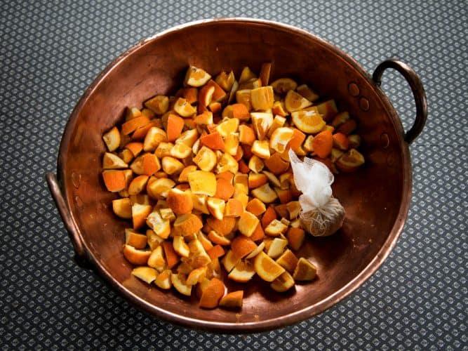 Les oranges amères en quartiers et leurs pépins -© 180°C - Photographie Camille Oger