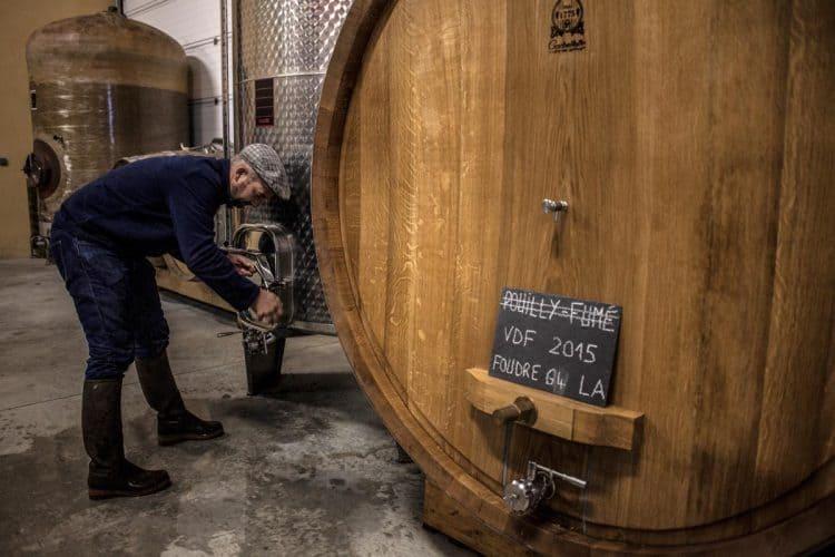 Pouilly-fumé ? Ca, c'était avant... Désormais les cuvées sont en vin de France. © 180°C - Photographie Jean-Luc Luyssen