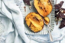 Caramel d'amandes au chocolat et mangue rôtie 3