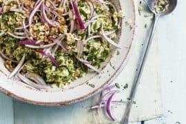 Salade d'herbes aux risoni 3