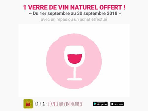 Un verre de vin naturel offert ! 1