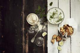 Beignets d'oignons et petits pois à la farine de pois chiche 2
