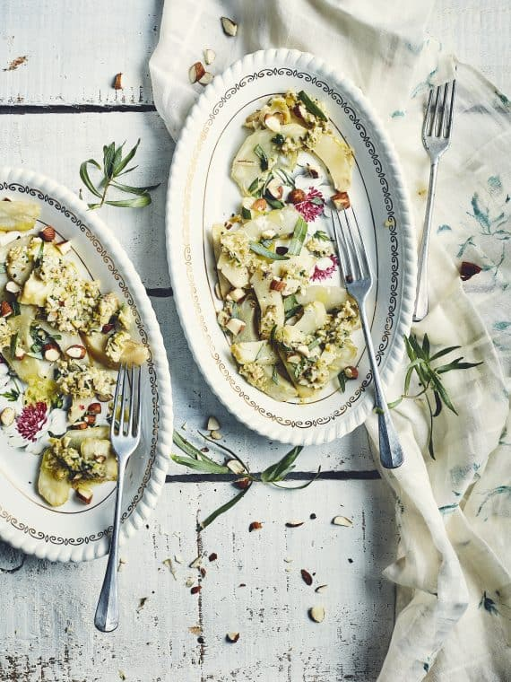 Salade d'artichauts, sauce aux câpres et estragon 16