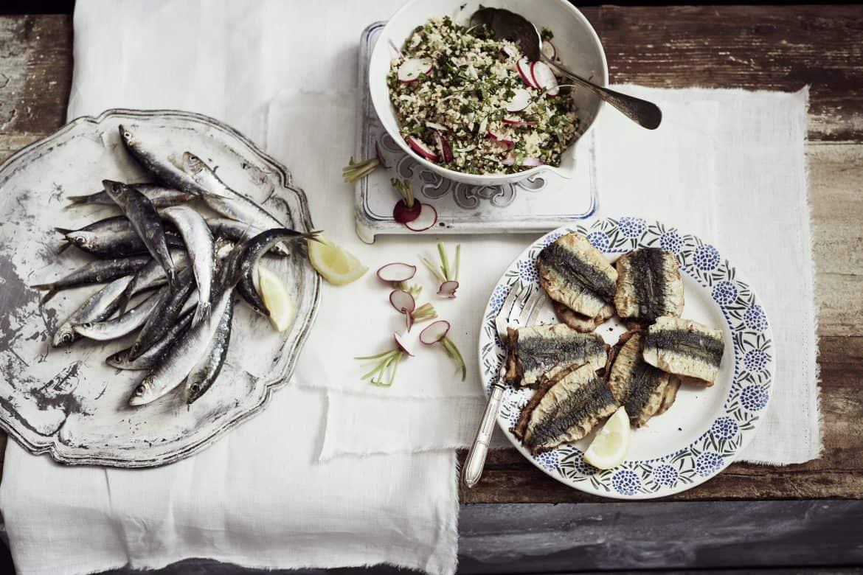Sardines à la chermoula & taboulé de printemps