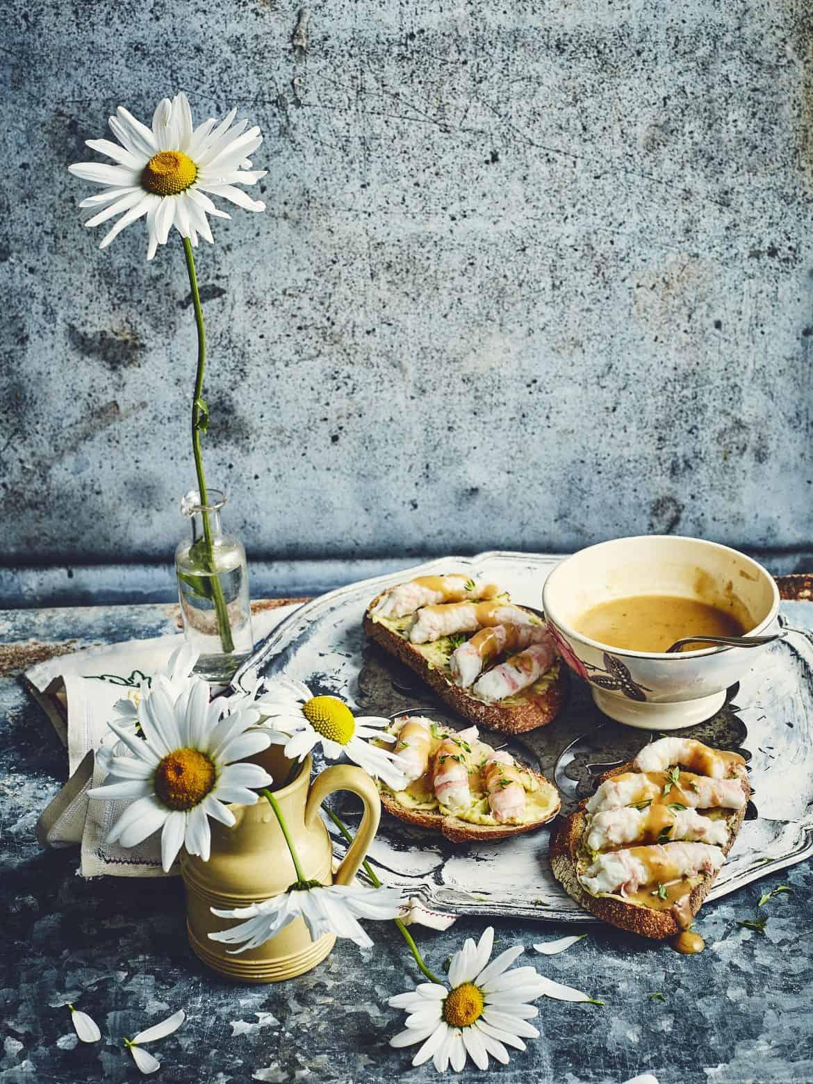 Tartines de langoustines au beurre de citron vert