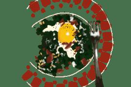 Épinards à la crème et aux œufs
