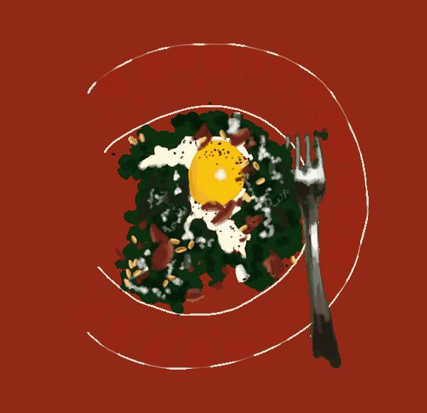 Épinards à la crème et aux œufs 1