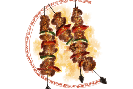 Brochettes de bœuf mariné 2