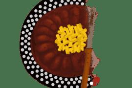 Fondant au chocolat, amandes et mangue 2