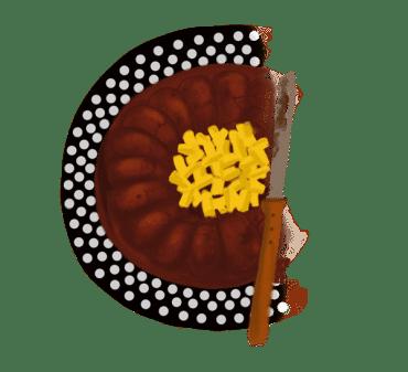 Fondant au chocolat, amandes et mangue 14