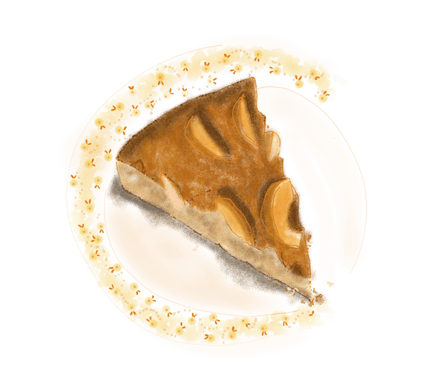 Moelleux aux pommes et à la cannelle