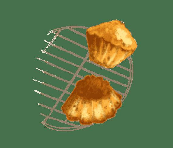Petits gâteaux de semoule à l'orange confite 2