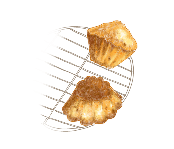 Petits gâteaux de semoule à l'orange confite 1