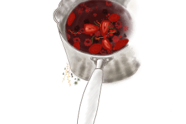 Minestrone de fruits rouges au thym