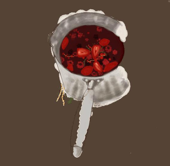 Minestrone de fruits rouges au thym 2