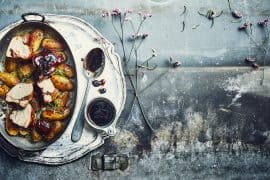 Porc au sirop d'anis étoilé et pommes de terre nouvelles 3
