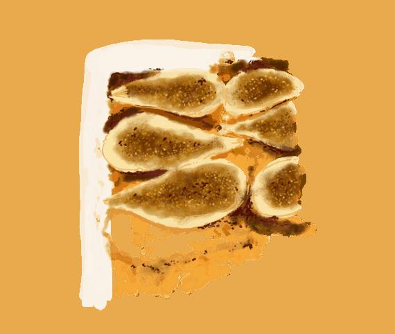 Poires rôties au miel et amandes en poudre 12