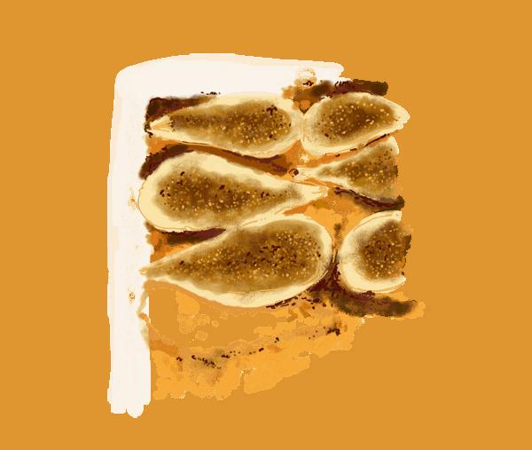 Poires rôties au miel et amandes en poudre 1