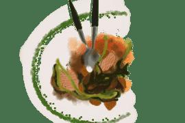 Porc rôti au genièvre et aux figues séchées
