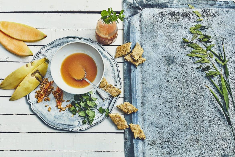 Soupe de melon & biscuits amandes-anis 1