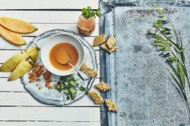 Soupe de melon & biscuits amandes-anis