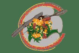 Salade d'onglet, chou-rave et carottes un peu thaïe 2