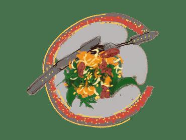 Salade d'onglet, chou-rave et carottes un peu thaïe 18
