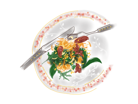 Salade d'onglet, chou-rave et carottes un peu thaïe 17