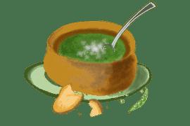 Soupette de petits pois frais