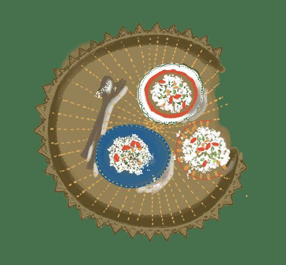 Semoule de chou-fleur en taboulé 7