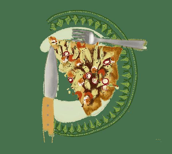 Tarte au fenouil, tomates confites et féta 1
