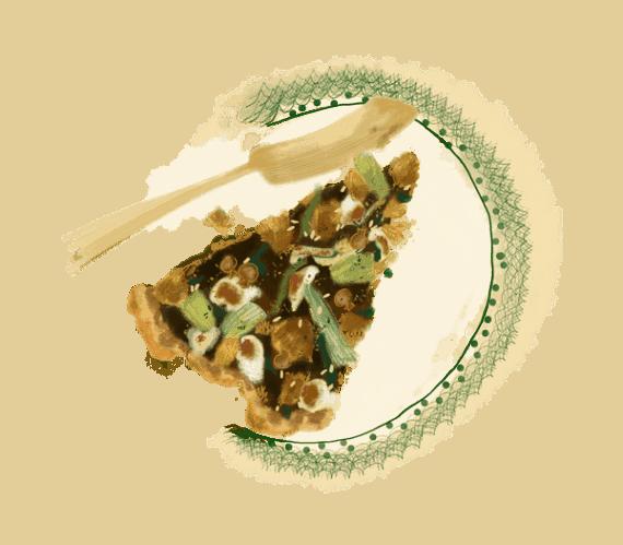 Tarte au thon et cœurs d'artichaut