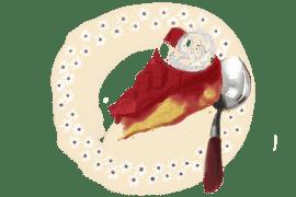 Tatin sablée rhubarbe et fraises