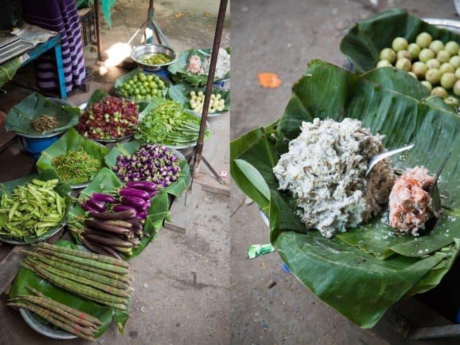 Étal de légumes et ngapi, Sagaing - © 180°C Photographie Camille Oger