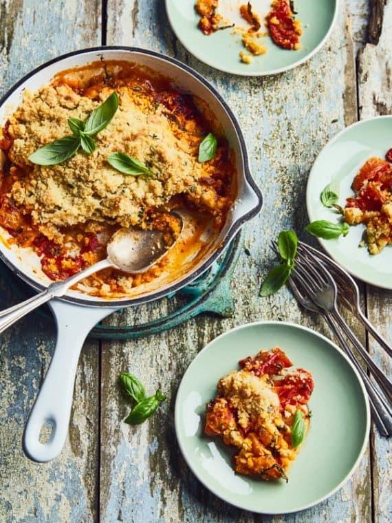 Crumble de tomates cornues au parmesan 11